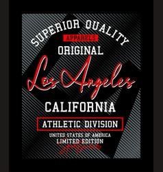 la los angeles typography usa style vector image