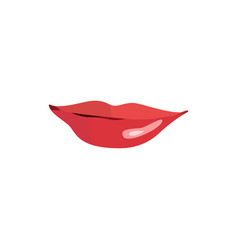 lips set lip design element vector image
