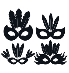 Mask carnival celebration icon vector