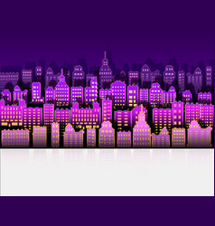 neon city modern color with paper background vector image