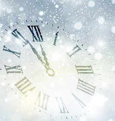 new year clock background 1609 vector image