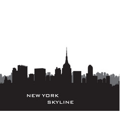 Nyc cityscape urban city silhouette travel usa vector