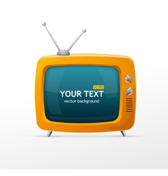 orange retro TV vector image