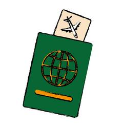 passport document icon vector image