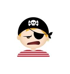 Pirate facial expression vector