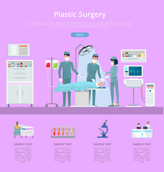 Plastic surgery description vector