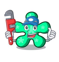 Plumber free form mascot cartoon vector
