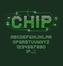 Printed circuit board font computer technologies vector