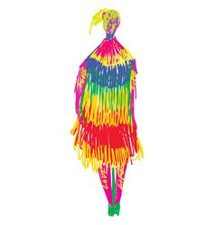 Psychedelic artwork a woman in color pencils vector
