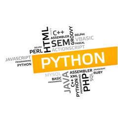 Python word cloud tag cloud graphic vector