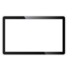realistic tv blank screen vector image