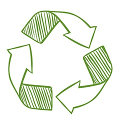 Recycle arrows vector image