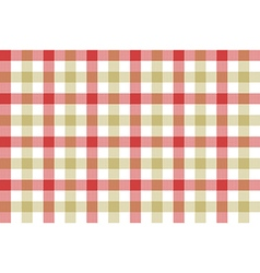 Red beige check fabric texture background seamless vector
