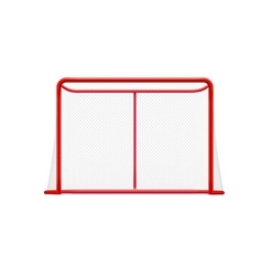 red hockey goal realistic desig isolated on white vector image