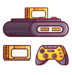 retro classic tv game console vector image