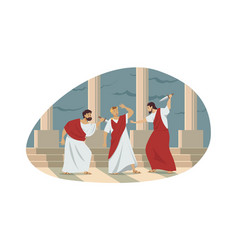 Rome history conspiracy assassination concept vector