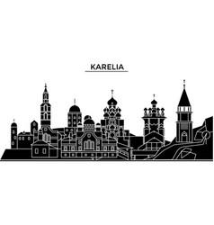 Russia karelia architecture urban skyline with vector