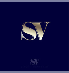 s v monogram logo combined letters premium emblem vector image
