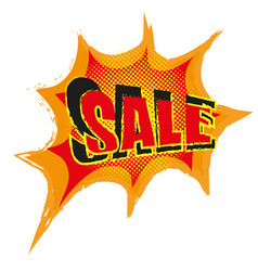 sale poster in pop art comic style vector image