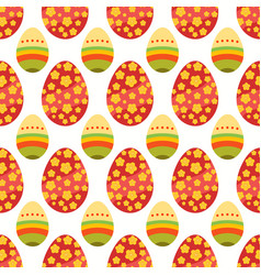 Seamless pattern of maroon and layered easter eggs vector