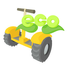 Segway icon cartoon style vector