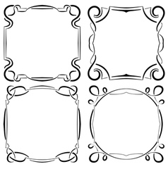 Set of four beautiful framework vector