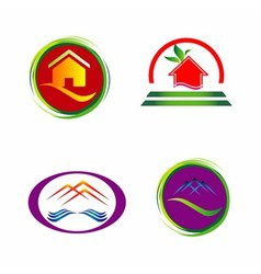 Set of house icons symbols and logos vector image vector image