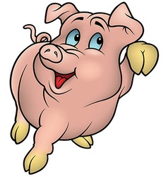 Smiling Pink Piggy vector
