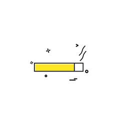 smoke cigarette tobacco icon design vector image