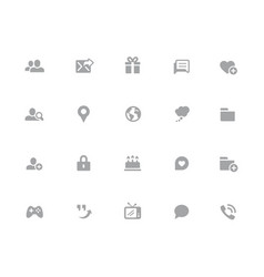social communications icons 32 pixels icons vector image