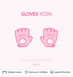 sport gloves icon isolated on white vector image