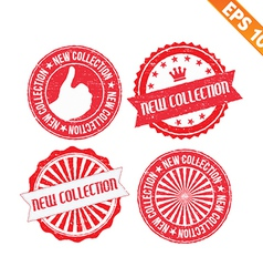 Stamp sticker new collection - - EPS10 vector image