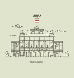 state opera housel in vienna austria vector image
