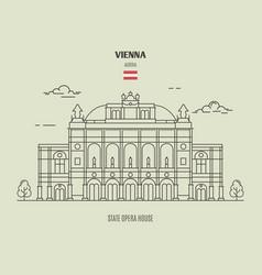 State opera housel in vienna austria vector