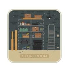 Storeroom interior with brickwall vector image