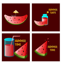 Summer time banner design with white circle vector