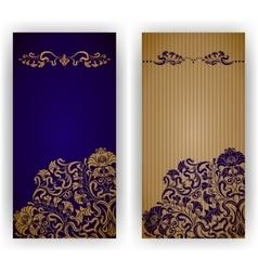 template design for invitation vector image