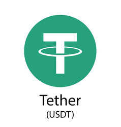 Tether cryptocurrency symbol vector