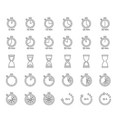 timer and sand clock icon for use as cooking vector image