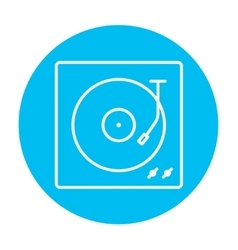 Turntable line icon vector image