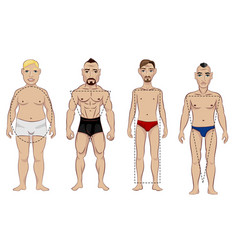 Types of male figure vector