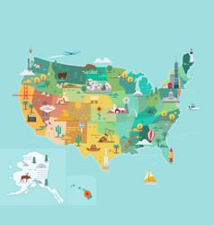 Usa tourist map vector