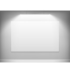 White canvas hanging on wall vector