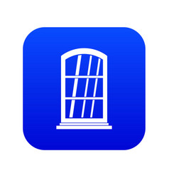 white narrow window icon digital blue vector image