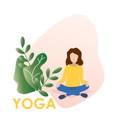 woman doing office yoga vector image
