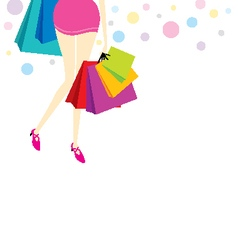 Woman with shopping bags vector image