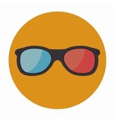 3-D glasses design vector image