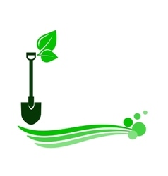 decorative gardening background vector image vector image