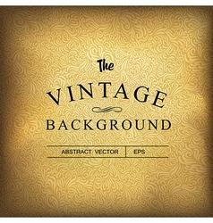 golden vintage background template vector image vector image
