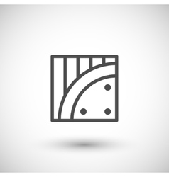 Insulation line icon vector image vector image